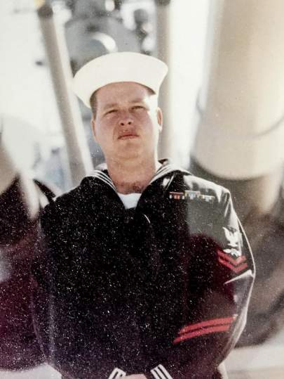 David Gilchrist serving in the U.S. Navy